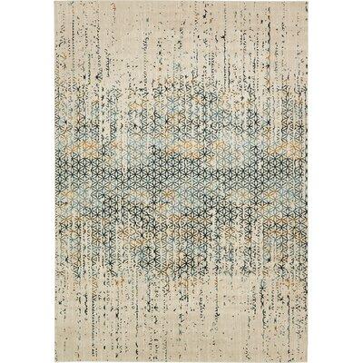 Brayden Beige/Blue Area Rug Rug Size: 8 x 112
