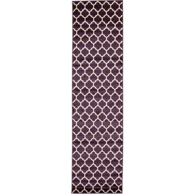 Finch Purple Area Rug Rug Size: Runner 27 x 10