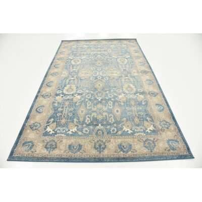 Basswood Light Blue Area Rug Rug Size: Rectangle 5 x 8
