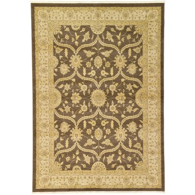 Jamar Brown Area Rug Rug Size: 7 x 10