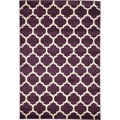 Kellie Purple Area Rug Rug Size: 4 x 6