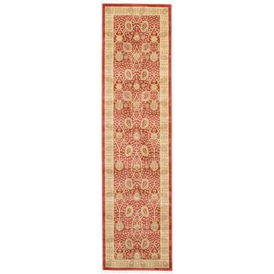 Willow Red Area Rug Rug Size: Runner 27 x 10