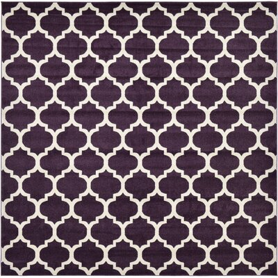 Chelsea Purple Area Rug Rug Size: Square 10