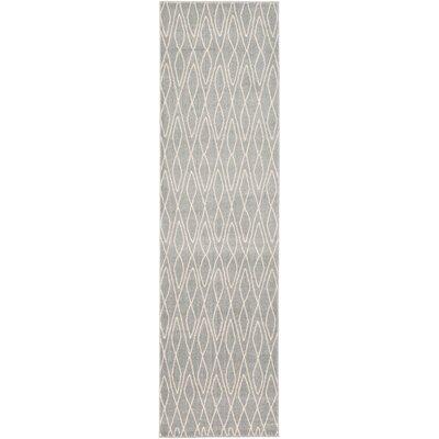 Doretha Gray Area Rug Rug Size: Runner 27 x 10