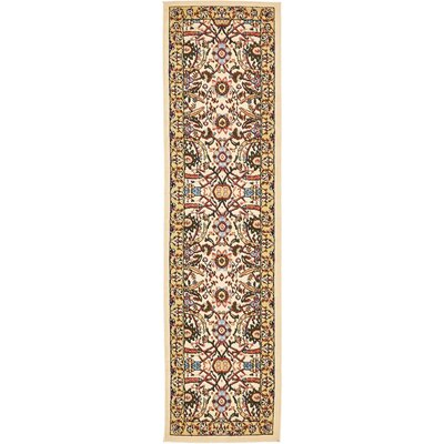 Anfa Cream Area Rug Rug Size: Runner 22 x 82