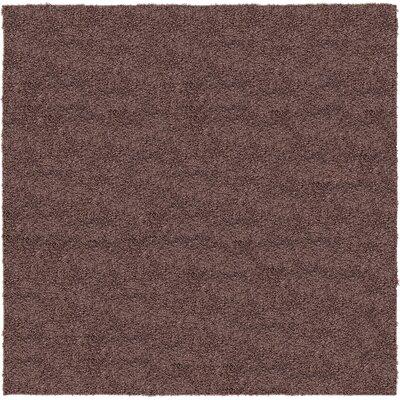 Aquino Beige Solid Area Rug Rug Size: Square 6