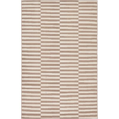 Braxton Light Brown Area Rug Rug Size: Rectangle 6 x 9