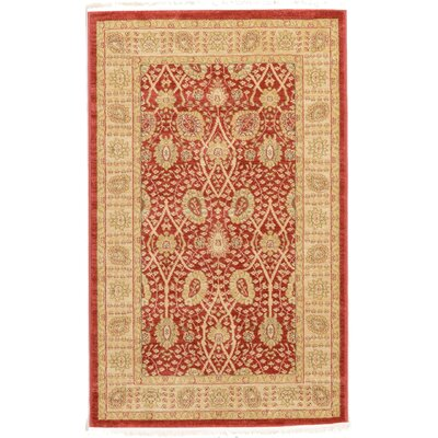 Willow Red Area Rug Rug Size: 33 x 53
