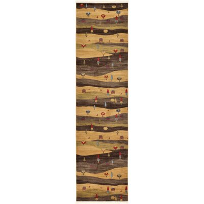 Jan Tan Abstract Area Rug Rug Size: Runner 3 x 10