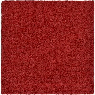 Madison Basic Red Area Rug Rug Size: Square 82