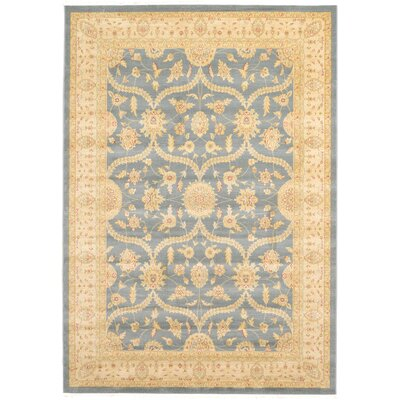 Willow Blue/Beige Area Rug Rug Size: 7 x 10