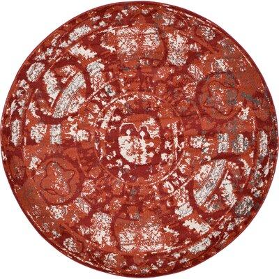 Kelaa Terracotta Area Rug Rug Size: Round 6