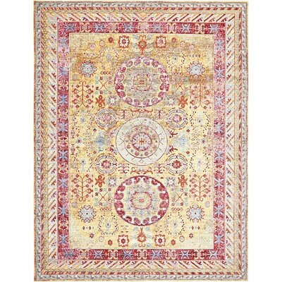 Carrico Yellow Area Rug Rug Size: 9 x 12
