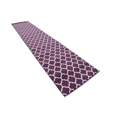 Moore Purple Area Rug Rug Size: Runner 27 x 13