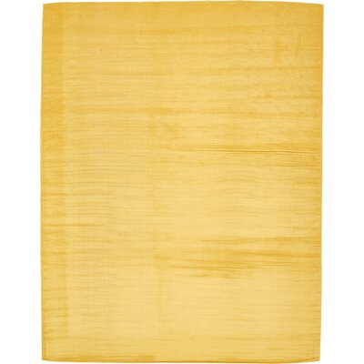 Risley Gold Area Rug Rug Size: 10 x 13