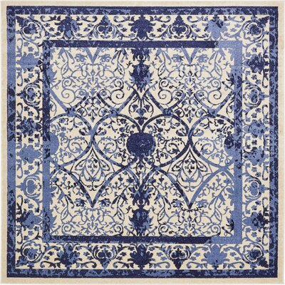Chappel Blue Indoor/Outdoor Area Rug Rug Size: Square 8