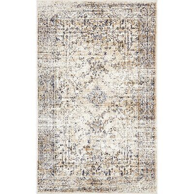 Berthoud Cream Area Rug Rug Size: Rectangle 5 x 8