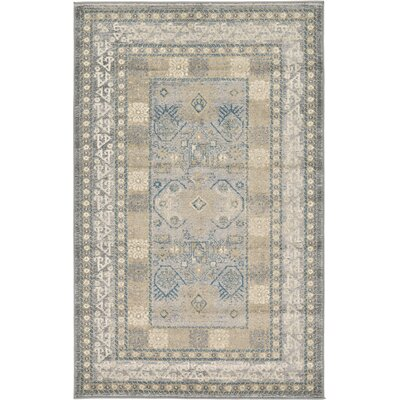 Jaiden Oriental Gray Area Rug Rug Size: 33 x 53