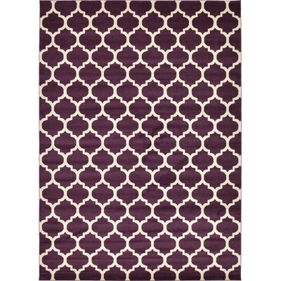 Kellie Purple Area Rug Rug Size: 10 x 14