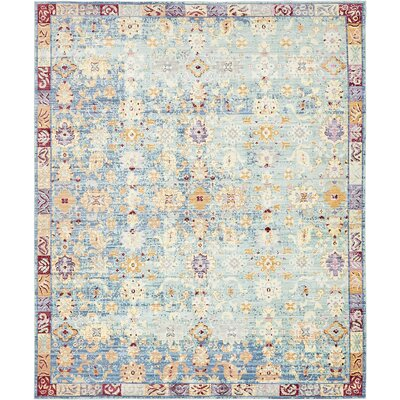 Carrico Oriental Blue Area Rug Rug Size: Rectangle 6 x 9