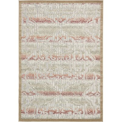 Lorenza Beige Indoor/Outdoor Area Rug Rug Size: Rectangle 7 x 10