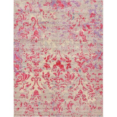 Fujii Beige/Pink Area Rug Rug Size: Rectangle 7 x 10