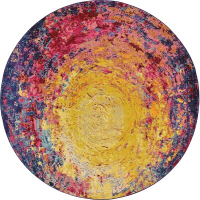 Ned Area Rug Rug Size: Round 8