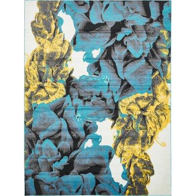 Sidney Turquoise Area Rug Rug Size: 8 x 10