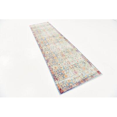 Carrico Oriental Blue Area Rug Rug Size: Runner 27 x 91