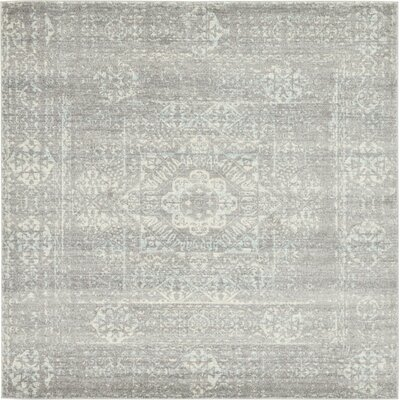Delit Gray Area Rug Rug Size: 84 x 84