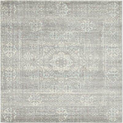 Delit Gray Area Rug Rug Size: Square 84 x 84