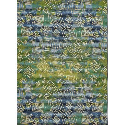 Camdyn Blue Indoor/Outdoor Area Rug Rug Size: 4 x 6