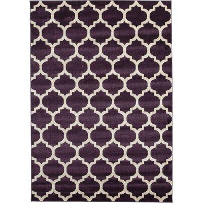Kellie Purple Area Rug Rug Size: 7 x 10