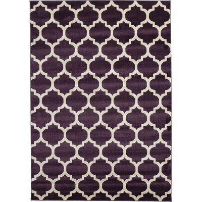 Finch Purple Area Rug Rug Size: 7 x 10