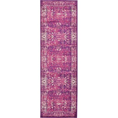 Neuilly Lilac/Violet Area Rug Rug Size: Runner 3 x 91