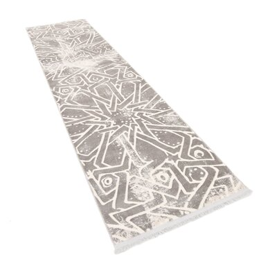 Sherrill Traditional Gray Area Rug Rug Size: Runner 22 x 6