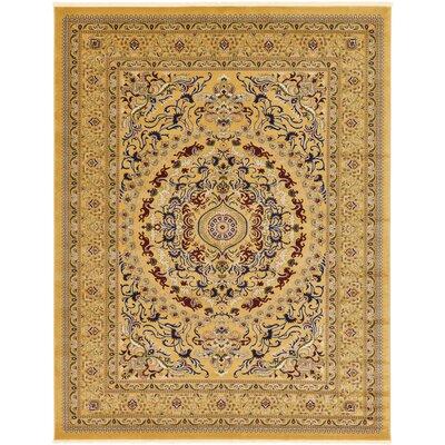 Altadena Gold Area Rug Rug Size: Rectangle 5 x 77