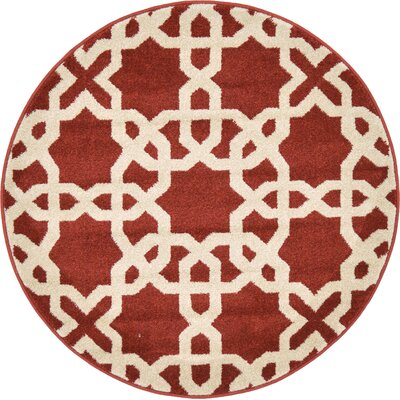 Moore Dark Terracotta Area Rug Rug Size: Rectangle 3 x 3