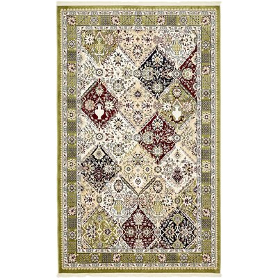 Jadyn Green Area Rug Rug Size: Rectangle 5 x 8