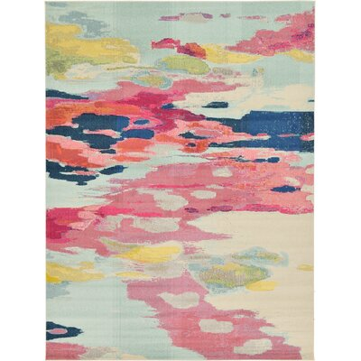 Brister Pink Area Rug Rug Size: 9 x 12