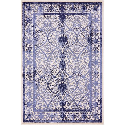 Chappel Blue Indoor/Outdoor Area Rug Rug Size: 4 x 6