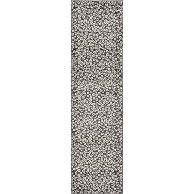 Leif Dark Gray Area Rug Rug Size: Runner 27 x 10