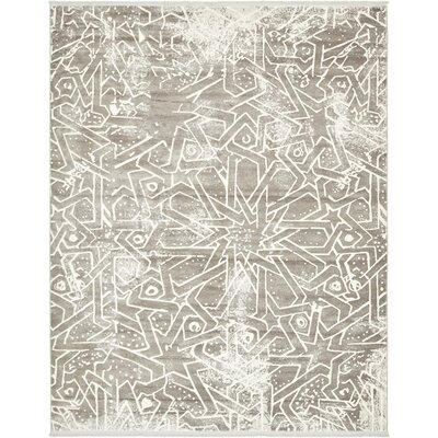 Sherrill Traditional Gray Area Rug Rug Size: Rectangle 7 x 10