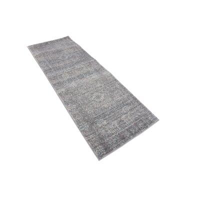 Delit Gray Area Rug Rug Size: Runner 22 x 6
