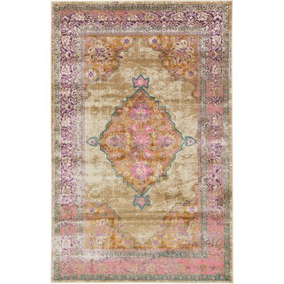 Charlena Beige Area Rug Rug Size: Rectangle 5 x 8