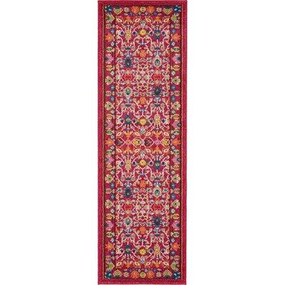 Iris Pink Area Rug Rug Size: Runner 27 x 10