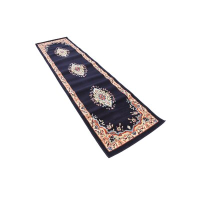 Astral Navy Blue Area Rug Rug Size: Runner 2'2