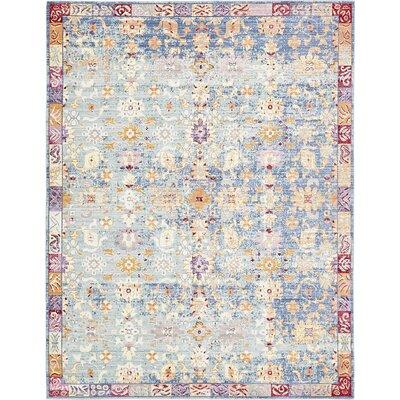 Carrico Oriental Blue Area Rug Rug Size: 9 x 12