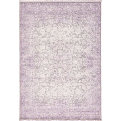 Sherrill Light Gray Oriental Area Rug Rug Size: Rectangle 8 x 114