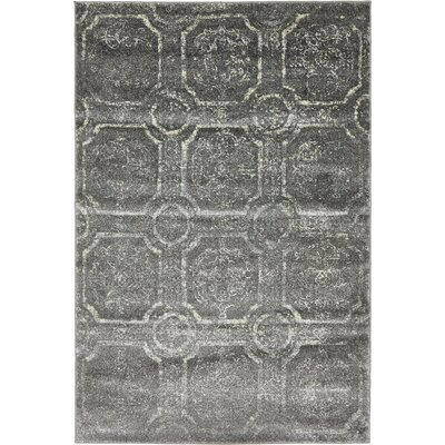 Essex Dark Gray Area Rug Rug Size: 4 x 6